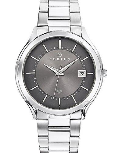 –616411–Zeigt Herren-Armbanduhr 1076312Analog Stahl Silber