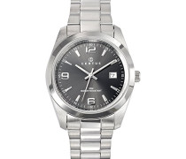 Herren-Armbanduhr Analog Quarz Silber 615312