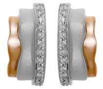 Damen-Ohrstecker 925 Silber rhodiniert Zirkonia Brillantschliff weiß - ZO-6042