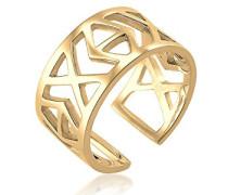 Damen Ring Vergoldet Ringgröße: verstellbar 0605131616