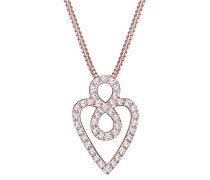 Halskette Herz Infinity Swarovski Kristalle 925 Silber rosé 0101120617
