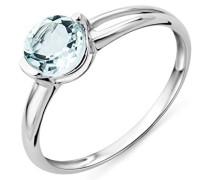 Damen-Ring mit Aquamarin 9 Karat 375 Weißgold Gr. 52 (16.6) MG9087R2