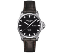 Certina Herren-Armbanduhr XL Analog Automatik Leder C014.407.16.051.00