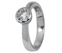 Jewelry Damen-Ring 925/-Sterling Silber rhodiniert, 1 Zirkonia JBM1026-121