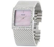M&M Damen-Armbanduhr Analog Quarz Edelstahl M11605-147