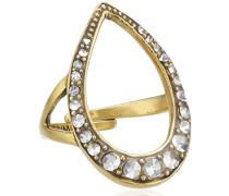 Jewelry Damen-Ring Messing aus der Serie pure relaxation vergoldet,weiß 2.5 cm Größen-verstellbar 141322004