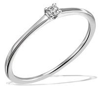 Damen-Ring Solitär Jana Solitär Ring Jana 0.05 ct. 585 Weißgold Diamant (0.05 ct) weiß Brillantschliff