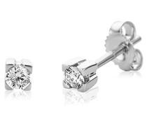 Miore M0601W 18 Karat (750) Weißgold Ohrringe, MIT 2 (0,15 cts) Diamanten