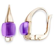 Damen-Ohrringe 9 Karat (375) Rosegold Amethyst MNA9015E