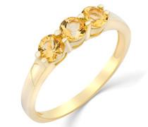 Damen - Ring 9 Karat (375) Gelbgold mit Citrin, Größe 56 MG9188R6