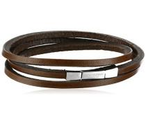 Armband Italienisches Leder braun Verschluss aus Sterling-Silber 925