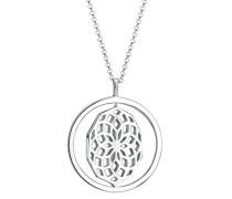 Damen-Kette mit Anhänger Drehscheibe Ornament 925 Sterling Silber 80 cm 0106111016_80