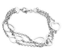 Damen Sterling-Silber 925 Armband mit Herzen
