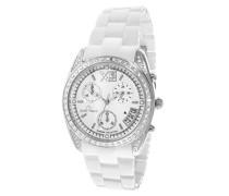 Damen-Armbanduhr Analog Quarz Premium Keramik Diamanten - STM13H410