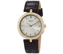 Damen-Armbanduhr XS Analog Quarz Leder 12090292