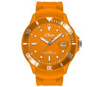 s.Oliver Herren-Armbanduhr XL Analog Quarz Silikon SO-2686-PQ