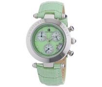 Damen-Armbanduhr XS Visage Chronograph Quarz Leder CD-VISL-QZ-LT-STST-GR