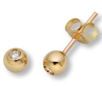 Miore M0411Y 18 Karat (750) Gelbgold Ohrringe, MIT 2 (0,06 cts) Diamanten
