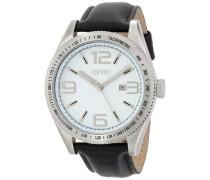 Herren-Armbanduhr XL Verdugo Black Analog Quarz Leder ES104121002