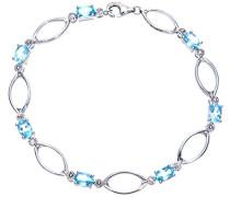 Damen-Armband 9 Karat 375 Weißgold Diamant 185 mm PBC02835W/BT