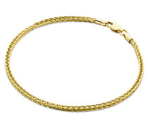 Damen-Armband Weizen 9 Karat 375 Gelbgold 19.5cm MSIL928B