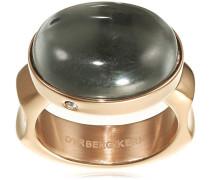 Dyrberg/Kern Damen-Stapelring 15/02 Nella Iii Rg Grey teilvergoldet Gr. 57 (18.1) - 337781