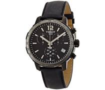 Tissot Herren-Armbanduhr Chronograph Quarz Leder T095.417.36.057.02
