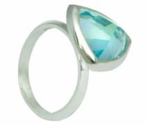 D for Diamond Damen-Ring Sterling-Silber 925 Blautopas 57 (18.1) KRW001B SZ8