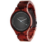 Herren-Armbanduhr Lamprecht Analog Quarz Holz 0705184599509