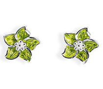 Damen- Ohrstecker Froggy Blüte 925 Silber Brandlack LD FG 26 GR