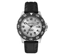 Nautica Herren-Armbanduhr XL Analog Quarz Silikon A12650G