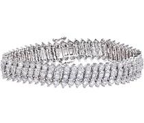 Damen-Armband 9 K Weißgold Diamant 5, 0 ct PBC02442W