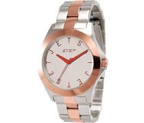 –j69796–652Damen-Armbanduhr 045J699Analog silber Armband Stahl zweifarbig