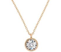 Damen Goldfarbene Kristall/Crystal Dot -Halskette für Damen, mit rundem Anhänger,von 44–46cm