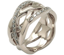 Kleine Muster Ring Silber-Poison Ivy