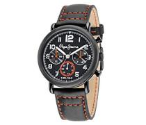 Pepe Jeans Herren-Armbanduhr STEVE Analog Quarz Edelstahl beschichtet R2351108003