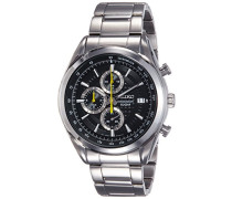 –ssb175p1–Armbanduhr–Quarz Chronograph–Zifferblatt schwarz Armband Stahl Grau