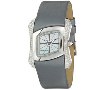 Damen-Armbanduhr Papillon Analog Quarz Leder Swiss Made