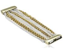 Manschetten-Armband, überzogen mit 24-karätigem Gelbgold & Sterlingsilber, Stil: Alabama, Länge: 20cm