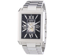 Collection Herren-Armbanduhr Xanthos Black Analog Automatik Edelstahl EL101051F06