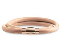 Boccia Damen-Armband Titanium Titan teilvergoldet Leder 40 cm - 0395-0440