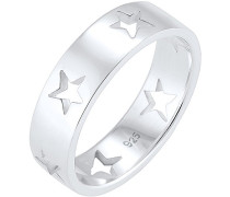 Damen Ring Sterne Astro Cut Out Bandring 925 Sterling Silber 0601220317