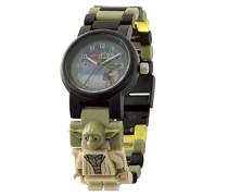 Star Wars Yoda Kinder-Armbanduhr mit Minifigur und Gliederarmband zum Zusammenbauen