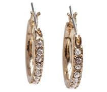 Classics Gold Ohrringe/Kreolen, Glaskristall, Klein