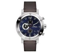 s.Oliver Herren-Armbanduhr Analog Quarz Leder SO-3097-LC