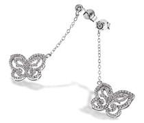 Damen-Ohrhänger Schmetterling 925 Sterlingsilber 164 weiße Zirkonia Schmuck