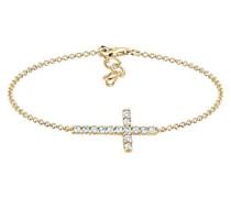 Armband Kreuz Swarovski Kristalle 925 Silber vergoldet 0201820917