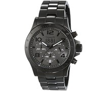 Cerruti 1881 Herren-Armbanduhr XL CARRARA Analog Quarz Edelstahl beschichtet CRA101F211G