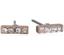 Damen-Ohrstecker Classic Vergoldet Kristall transparent Rundschliff - 601514043
