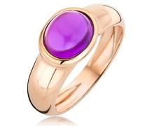 Damen-Ring 9 Karat (375) Rosegold Amethyst 1.5 ct Größe 58 MNA9004R58